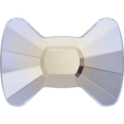 Swarovski 2858 12mm Bow Tie Flatback White Opal Hot Fix (96 pieces)
