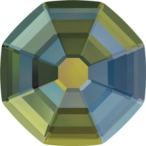 Swarovski 2611 8mm Solaris Flatback Crystal Iridescent Green Hot Fix (144 pieces)