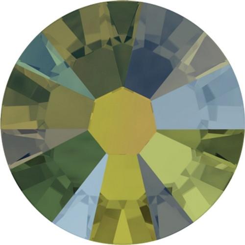 Swarovski 2058 34ss Xilion Flatback Crystal Iridescent Green (144 pieces)