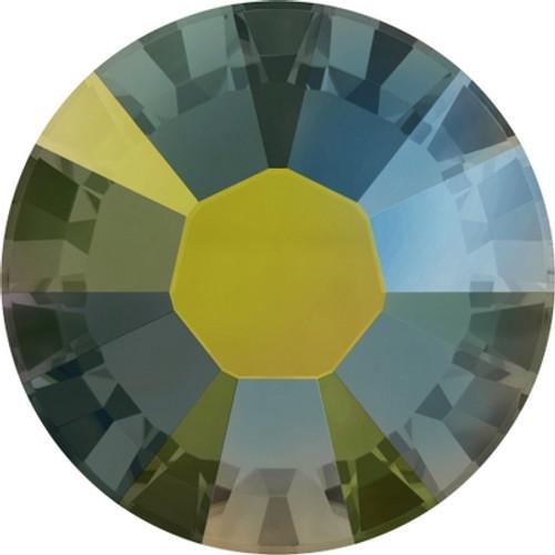 Swarovski 2038 34ss Xilion Flatback Crystal Iridescent Green Hot Fix (144 pieces)