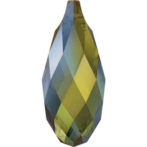 Swarovski 6010 11mm Briolette Pendants Crystal Iridescent Green (144 pieces)