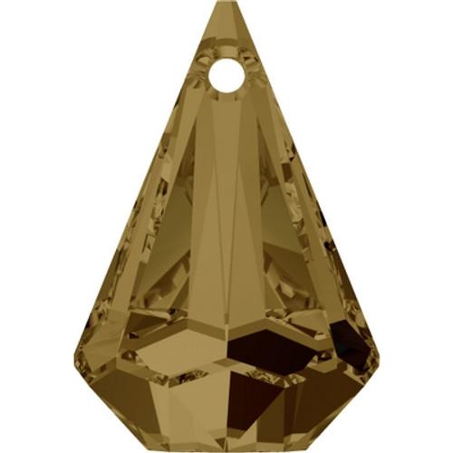 Swarovski 6022 14mm Raindrop Pendants Crystal Bronze Shade (72 pieces)