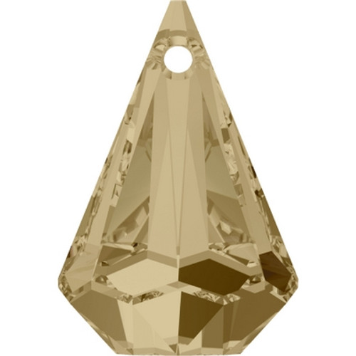 Swarovski 6022 24mm Raindrop Pendants Crystal Golden Shadow (24 pieces)