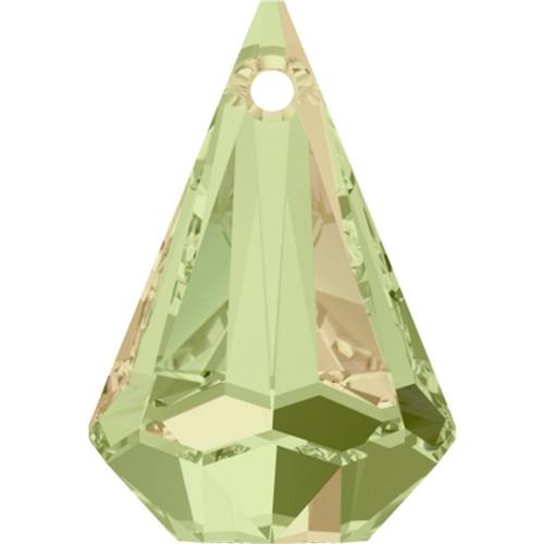 Swarovski 6022 24mm Raindrop Pendants Crystal Luminous Green (24 pieces)