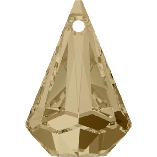 Swarovski 6022 33mm Raindrop Pendants Crystal Golden Shadow (8 pieces)
