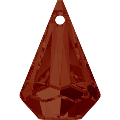 Swarovski 6022 33mm Raindrop Pendants Crystal Red Magma (8 pieces)