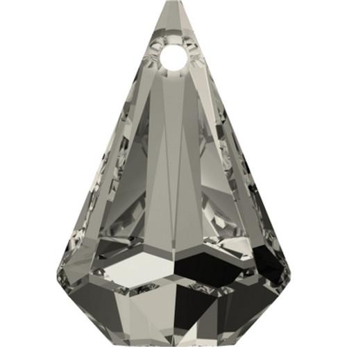 Swarovski 6022 33mm Raindrop Pendants Crystal Satin (8 pieces)