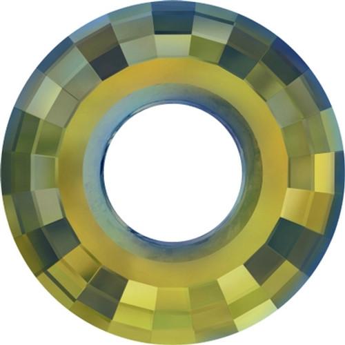 Swarovski 6039 25mm Disc Pendants Crystal Iridescent Green (24 pieces)