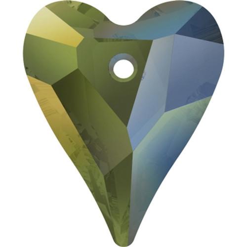 Swarovski 6240 17mm Wild Heart Pendants Crystal Iridescent Green (72 pieces)