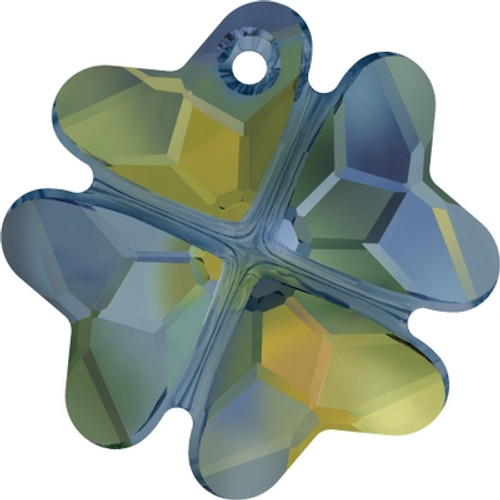 Swarovski 6764 28mm Clover Pendants Crystal Iridescent Green (16 pieces)