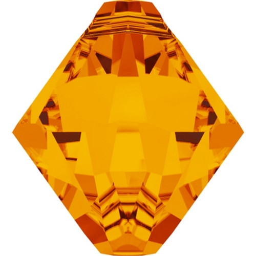 Swarovski 6328 8mm Top-drilled Bicone Beads Tangerine (288 pieces)