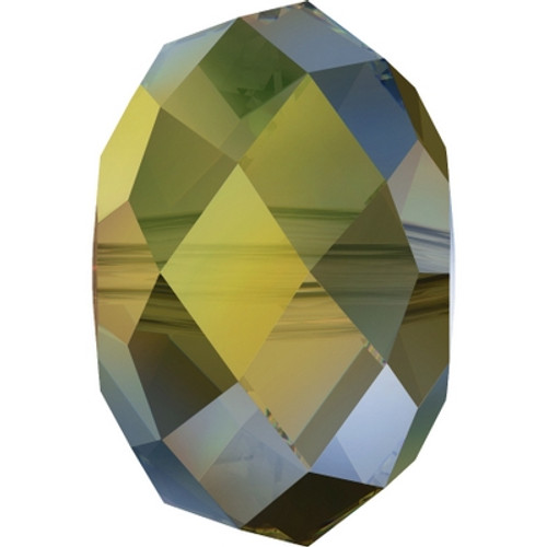 Swarovski 5040 8mm Rondelle Beads Crystal Iridescent Green (288 pieces)