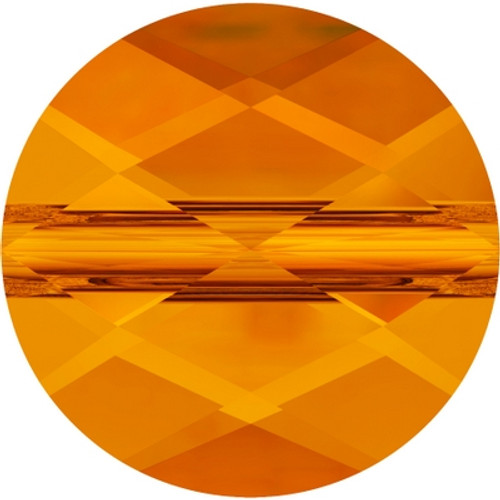 Swarovski 5052 8mm Mini Round Beads Tangerine (144 pieces)