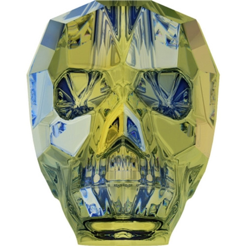 Swarovski 5750 13mm Skull Beads Crystal Iridescent Green (12 pieces)