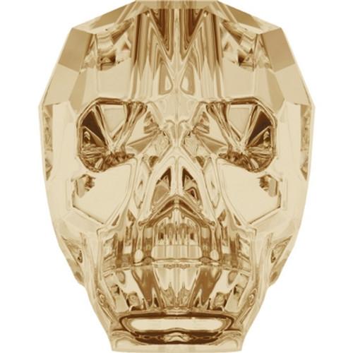 Swarovski 5750 19mm Skull Beads Crystal Golden Shadow (12 pieces)