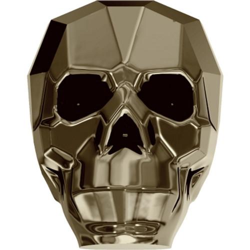 Swarovski 5750 19mm Skull Beads Crystal Metallic Light Gold 2X (12 pieces)