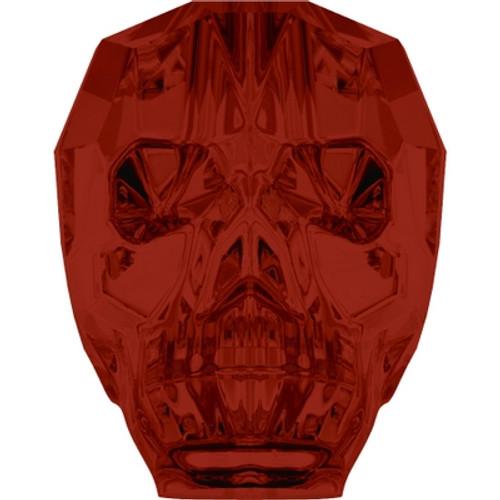 Swarovski 5750 19mm Skull Beads Crystal Red Magma (12 pieces)