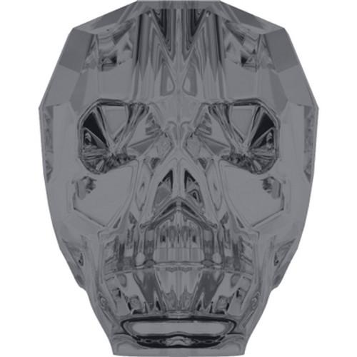 Swarovski 5750 19mm Skull Beads Crystal Silver Night (12 pieces)