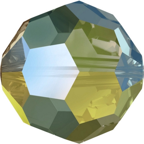 Swarovski 5000 6mm Round Beads Crystal Iridescent Green (36 pieces)