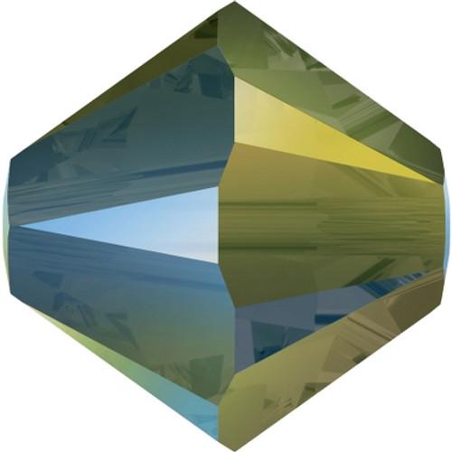 Swarovski 5328 6mm Xilion Bicone Beads Crystal Iridescent Green (36 pieces)