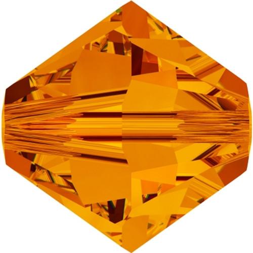 Swarovski 5328 4mm Xilion Bicone Beads Tangerine (72 pieces)