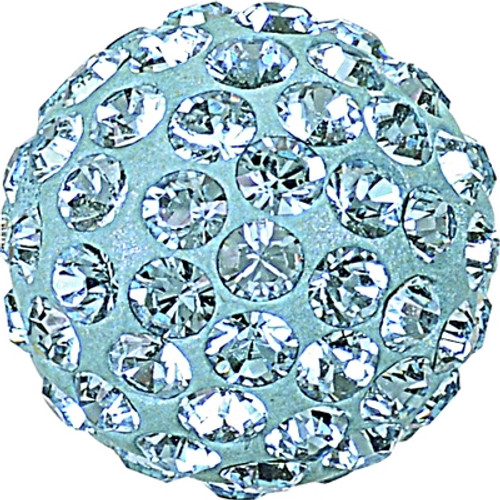 Swarovski 86001 6mm Pave Ball Bead w/ Aquamarine Chatons on Light Blue base (12 pieces)