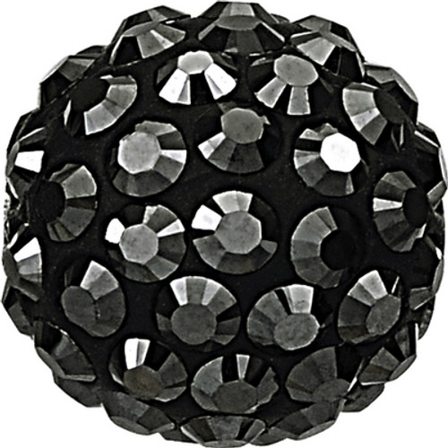 Swarovski 86001 10mm Pave Ball Bead w/ Jet Hematite Chatons on Black base (12 pieces)
