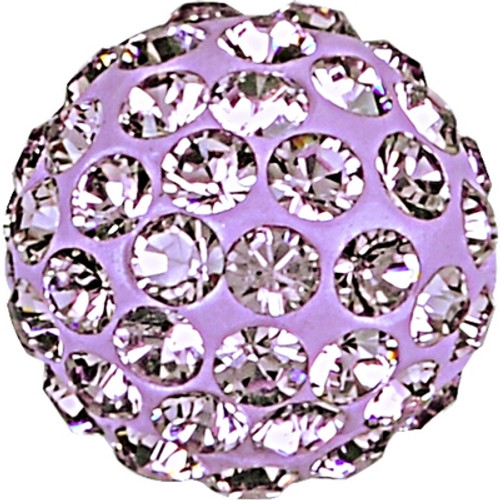 Swarovski 86001 8mm Pave Ball Bead w/ Light Amethyst Chatons on Mauve base (12 pieces)