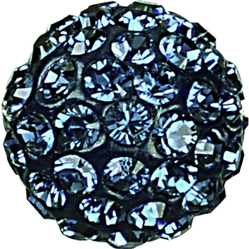 Swarovski 86001 4mm Pave Ball Bead w/ Montana Chatons on Navy Blue base (12 pieces)