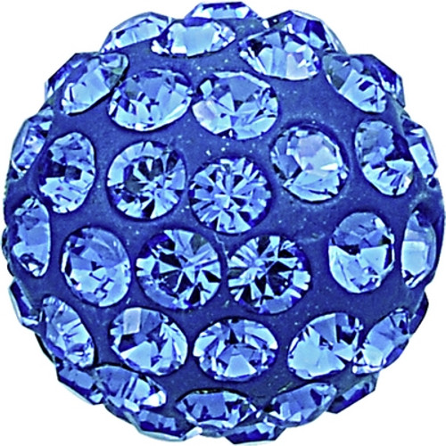 Swarovski 86001 6mm Pave Ball Bead w/ Sapphire Chatons on Dark Blue base (12 pieces)