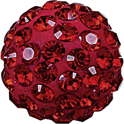 Swarovski 86001 4mm Pave Ball Bead w/ Siam Chatons on Dark Red base (12 pieces)