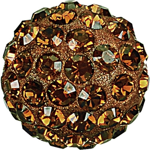 Swarovski 86001 10mm Pave Ball Bead w/ Smoked Topaz Chatons on Umber base (12 pieces)
