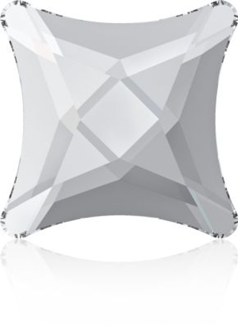 Swarovski 2494 8mm Starlet Flatback Crystal Silver Night Hot Fix
