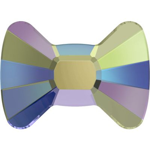 Swarovski 2858 12mm Bow Tie Flatback Crystal Paradise Shine Hot Fix