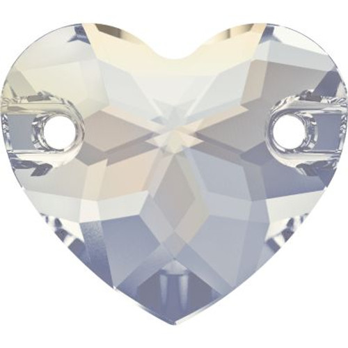 Swarovski 3259 12mm Heart Sew On Stones Crystal Golden Shadow