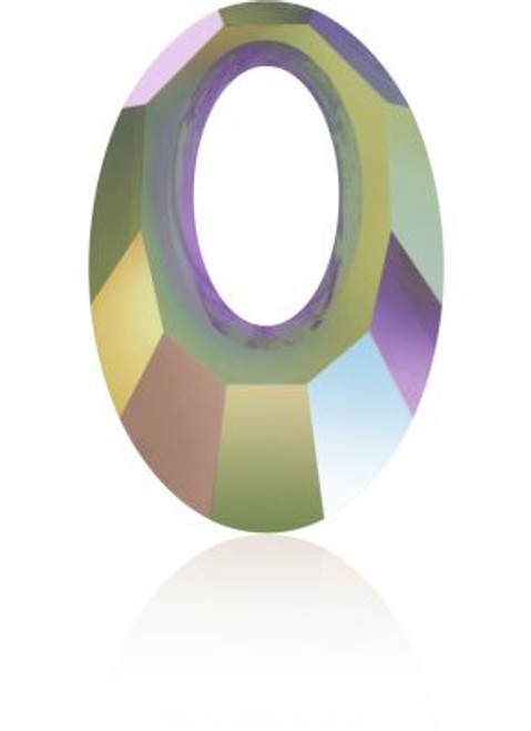 Swarovski 6040 30mm Oval Pendants Crystal Paradise Shine