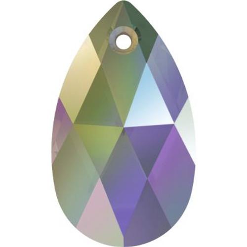 Swarovski 6106 28mm Pearshape Pendants Crystal Paradise Shine