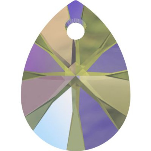 Swarovski 6128 10mm Xilion Mini Pear Pendants Crystal Paradise Shine