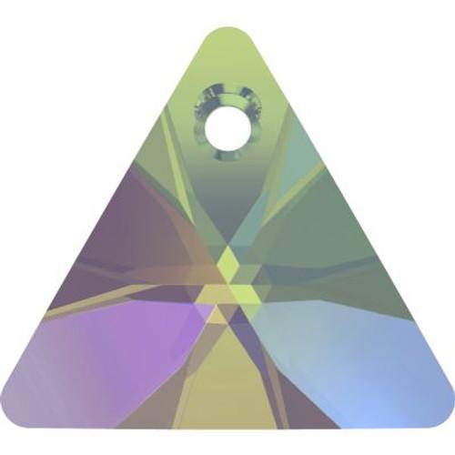 Swarovski 6628 16mm Xilion Triangle Pendants Crystal Paradise Shine