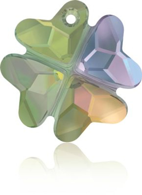 Swarovski 6764 19mm Clover Pendants Crystal Paradise Shine