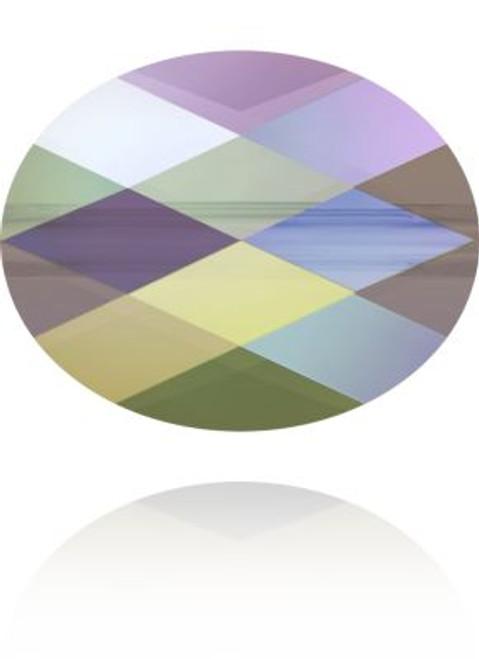 Swarovski 5051 8mm Mini Oval Beads Crystal Paradise Shine