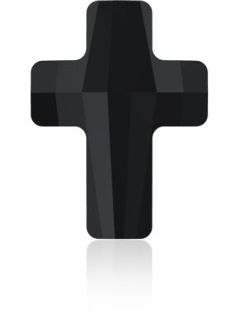 Swarovski 5378 14mm Cross Beads Jet
