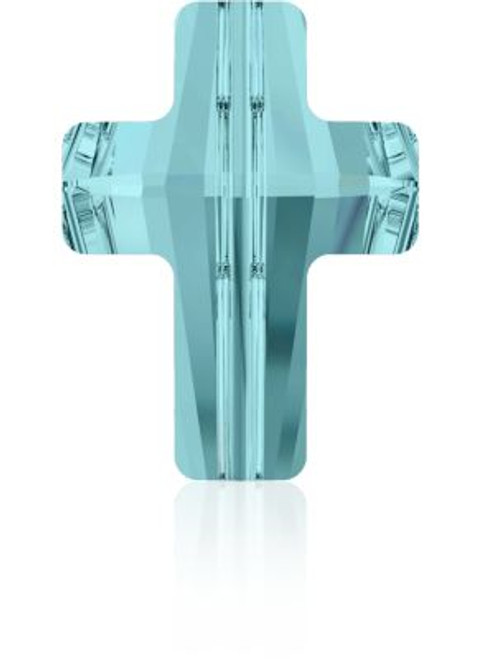 Swarovski 5378 14mm Cross Beads Light Turquoise