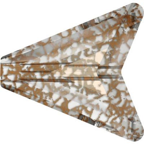 Swarovski 5748 16mm Arrow Beads Crystal Rose Patina
