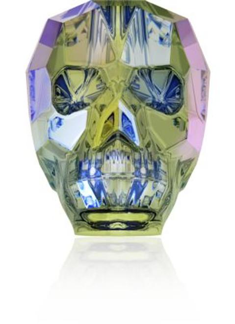 Swarovski 5750 19mm Skull Beads Crystal Paradise Shine