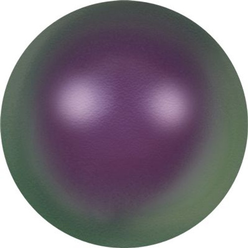 Swarovski 5811 12mm Large Hole Pearls Crystal Iridescent Purple Pearl