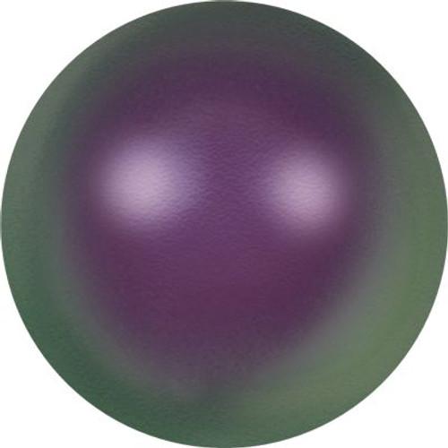 Swarovski 5818 4mm Half-Drilled Pearls Crystal Iridescent Purple Pearl