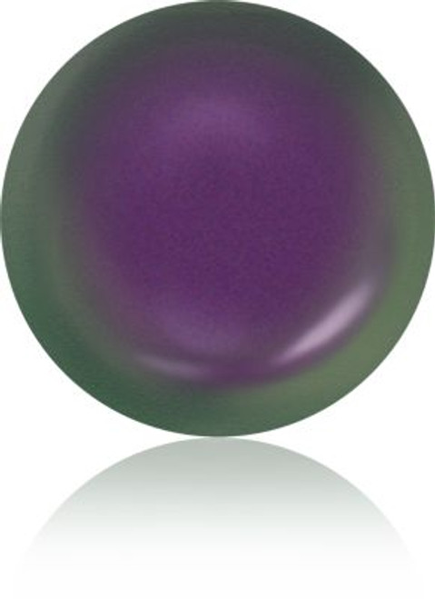Swarovski 5860 12mm Crystal Coin Pearls Crystal Iridescent Purple Pearl