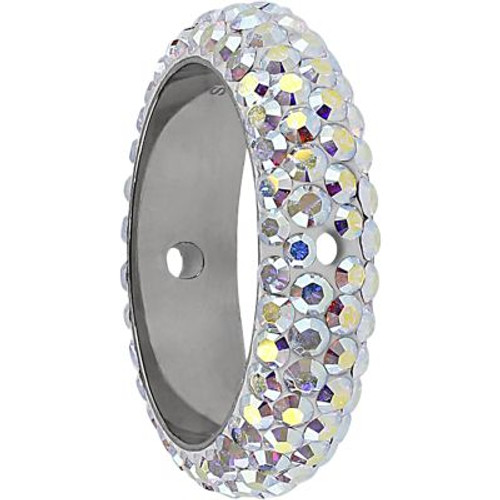 Swarovski 85001 16.5mm BeCharmed Pave Thread Ring Crystal AB (6 pieces )