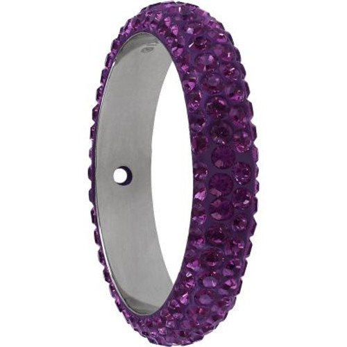 Swarovski 85001 18.5mm BeCharmed Pave Thread Ring Amethyst (6 pieces )